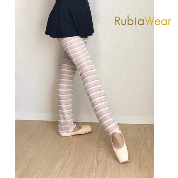【 Rubia Wear 】バレエダンサーがデザインした 超 ロング レッグウォーマー  Anais-Beigepink フルレッグ